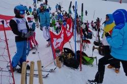Géant U12 organisé par le club au Grand Bornand
